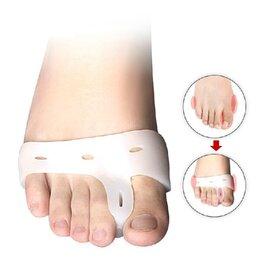 2 броя силиконови шини (ортеза) за изправяне на пръсти – при изпъкнало кокалче на палеца и кутрето на крака